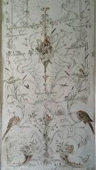 Chapeados de madera con motivos vegetales y animales del Amalienburg.