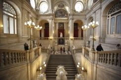 Francisco Sabatini. Escalera del Palacio Real de Madrid. Foto: Hola.com