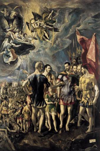 GRECO, El Martirio de S. Mauricio1580-81, 448 x 301 cm, Monasterio de San Lorenzo, El Escorial