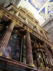 Juan de Herrera (diseño) y otros. Retablo de la basílica del Monasterio de San Lorenzo de El Escorial