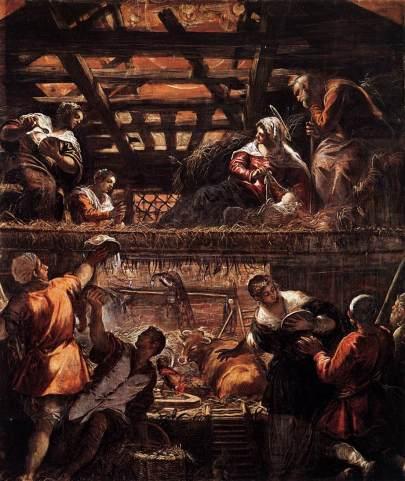 Tintoretto Adoración de los pastores, 1578-81, Scuola Grande di San Rocco, Venice
