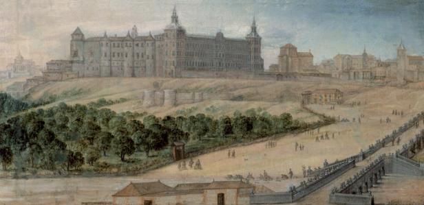 Félix Castelo: Vista del Alcázar de Madrid, ca. 1650, Museo de Historia, Madrid.