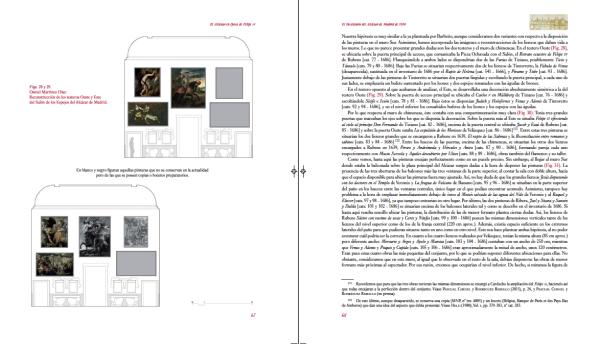 Página donde se muestran parte de los alzados del Salón de los Espejos.
