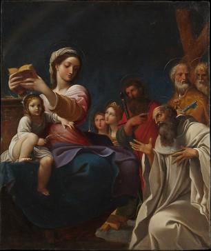 Ludovico Carracci: La Virgen con el Niño y Santos. New York, Metropolitan Museum.