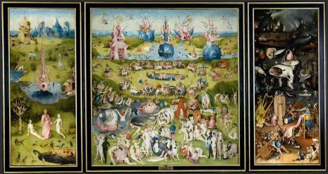 """Hieronymus van Aeken Bosch """"El Bosco"""". El Jardín de las Delicias. ca. 1500-05. Museo del Prado"""