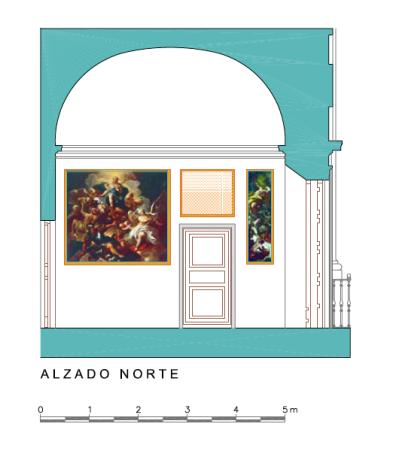 Alzado Norte del Dormitorio del Rey en el Palacio de Aranjuez.