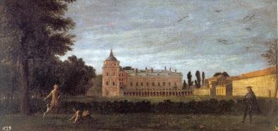 Michel-Ange Houasse: Vista desde el Mediodía del Palacio Real de Aranjuez. Madrid, Patrimonio Nacional.