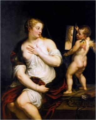 Rubens según Tiziano: Venus del Espejo. Museo Thyssen-Bornemizsa. Madrid.