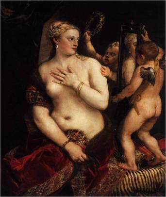 Tiziano: Venus con espejoc. 1555Óleo sobre lienzo, 125 x 106 cmNational Gallery of Art, Washington