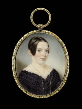 Sarah Goodridge: Retrato de Mrs. Edward Appleton. Museo de Bellas Artes de Boston.