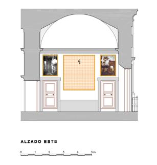 """Testero Este del """"Salón"""" o Galería de Paisajes de Aranjuez."""