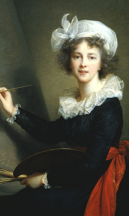 Elisabeth Louise Vigée Le Brun: Autorretrato, 1790. Óleo sobre lienzo; 100 x 81 cm. Galleria degli Uffizi, Corridoio Vasariano, Florencia.