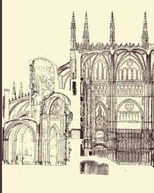 Otto Schubert: Sección de la Catedral de Toledo con el Transparente.