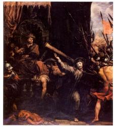 Francisco Rizi: Cristo camino del Calvario. Capilla del Cristo de la Buena Muerte. Colegiata de San Isidro de Madrid