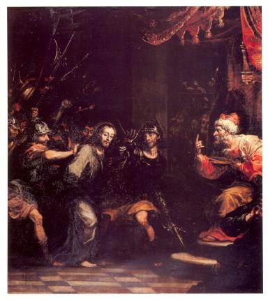 Francisco Rizi: Cristo ante caifás. Capilla del Cristo de la Buena Muerte. Colegiata de San Isidro de Madrid