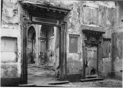 Antesacristía y Sacristía de la Colegiata de San Isidro de Madrid tras incendio de 1936