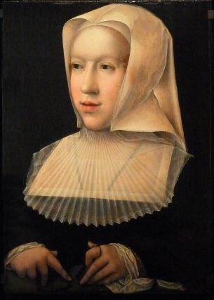Bernard Van Orley: Margarita de Austria, gobernadora de los Países Bajos, 1520. Francia, Real Monasterio de Brou.