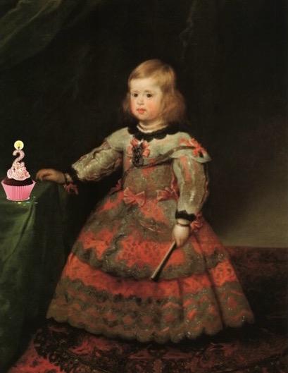 La infanta Margarita de Velázquez a la edad de dos añitos como nosotros...