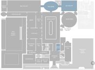 Plano de las salas de la Frick Collection.