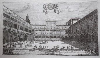 Louis Meunier. Patio de la Reina. ca. 1665. Museo de Historia.