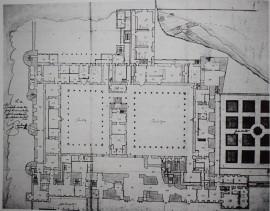 Juan Gómez de Mora. Planta baja del Alcázar. ca. 1626. Archivos Vaticanos.
