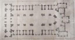 Julián Sánchez Bort: Templo magnífico en honor del Santo Rey D. Fernando. 1753. Planta. RABASF