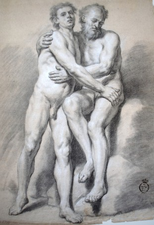 Antonio González Ruiz: Dos desnudos masculinos (academia). 1753. RABASF
