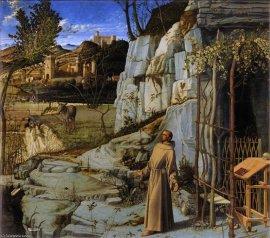 Giovanni Bellini: San Francisco en el Desierto. The Frick Collection.