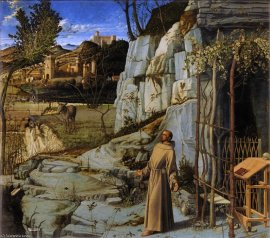 Giovanni Bellini: San Francisco en el Desierto. The Frick Collection.