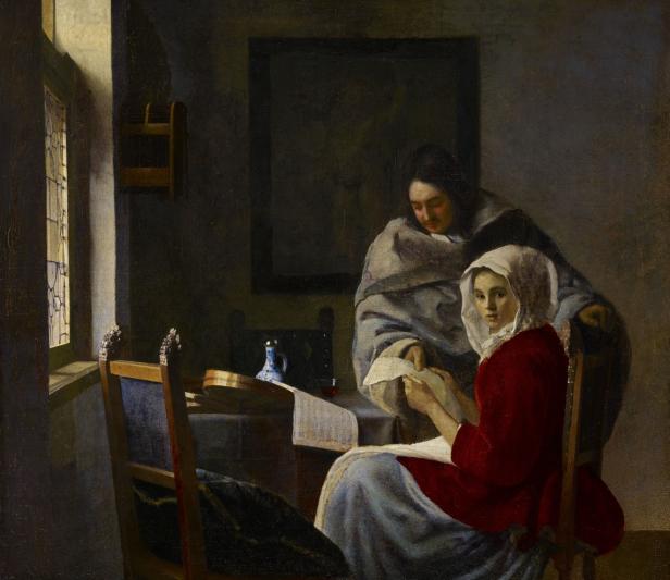 Johannes Vermeer: Chica interrumpida en su músic. The Frick Collection.
