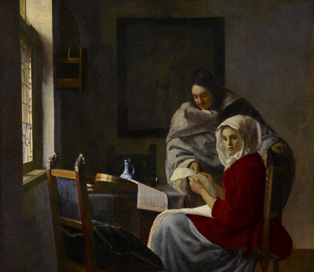 Johannes Vermeer: Chica interrumpida en su músic. The Frick Collection.