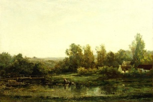 Charles-François Daubigny: Las lavanderas. The Frick Collection.