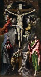 El Greco: Crucifixión. ca. 1600. Procede del retablo mayor del la iglesia del colegio de agustinos de Nuestra Sra. de la Encarnación de Madrid, vulgo: colegio de doña María de Aragón.