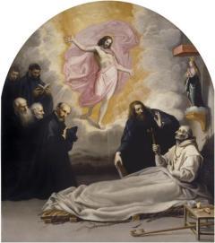 Vicente Caruducho: Muerte del venerable Odón de Novara. 1632. Museo del Prado. Procedente del claustro de la cartuja de el Paular en Madrid.