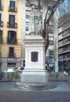Rafael Vela del Castillo: Monumento a Tirso de Molina. Madrid. Foto: wikipedia