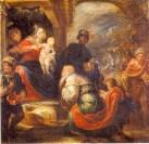 Francisco Rizi: Adoración de los Reyes. ca. 1665. Museo del Prado. Procedente del retablo de la Natividad del convento de Nuestra Señora de los Ángeles de Madrid.