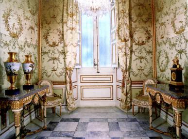 Vista del Gabinete de las fábulas de la Casa de campo del Príncipe en El Pardo.