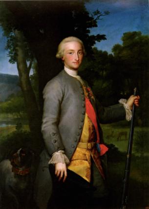 Anton Raphael Mengs: Carlos Antonio de Borbón, Príncipe de Asturias, 1766. Madrid, Museo Nacional del Prado.