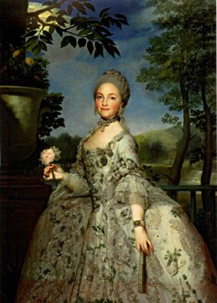 Anton Raphel Mengs: María Luisa de Parma, Princesa de Asturias. Madrid, Museo Nacional del Prado.