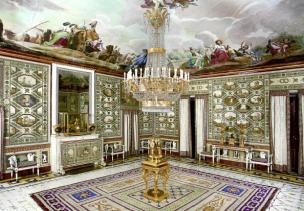 Vista de la Sala de Compañía en la Real Casa del Labrador de Aranjuez.