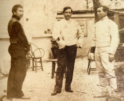 José Rizal y Juan Luna y Novicio en París.