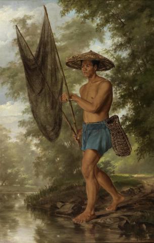 Félix Resurrección Hidalgo: Pescador de Sacag. 1875. Museo del Prado.