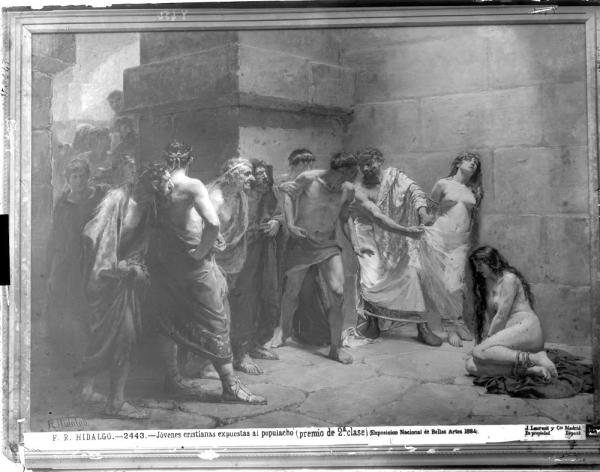 F. R. Hidalgo: Jóvenes cristianas expuestas al populacho. 1884. foto: IPCE