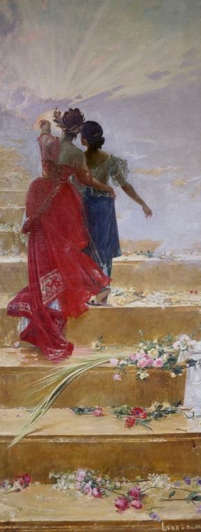 J. Luna. España guía a Filipinas por el camino del progreso. 1885. Museo del Prado (depositado en el Ayuntamiento de Cádiz)