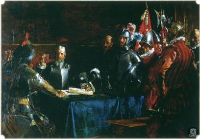 J. Luna: Pacto de sangre. Palacio de Malacañán en Manila. foto: web palacio-museo Malacañán.