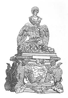 """La Apoteosis de Claudio, publicada por el """"Semanario Pintoresco"""", 14/05/1837, p. 143."""