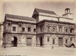 J. Laurent: Vista del Ayuntamiento de Sevilla. Fondo IPHE.