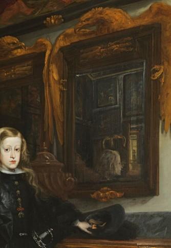 Juan Carreñode Miranda: Carlos II en el salón de los espejos (detalle). Museo de Bellas Artes de Asturias. Oviedo