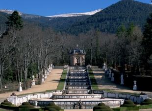 Vista de la Fuente de la Cascada en el Palacio de la Granja de San Ildefonso en la actualidad. Foto: Wikimedia Commons.