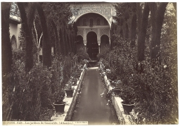 J. Laurent: Los jardines del Generalife. Fondo IPHE.